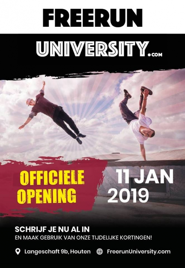 Freerun University opent in Houten