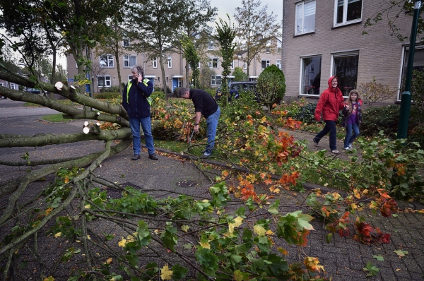 Stormschade in Houten