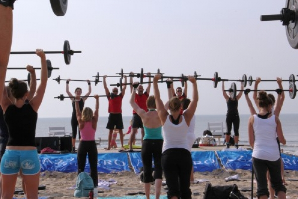 Bodypump on the beach